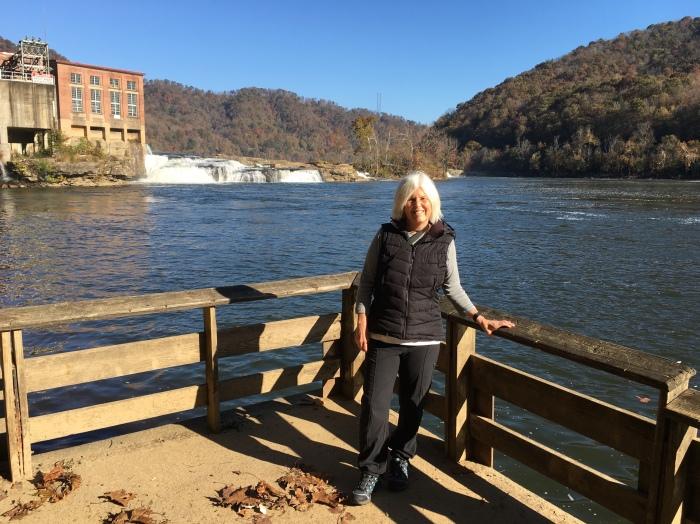 me at Kanawha Falls