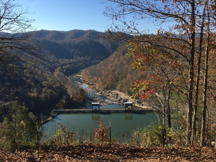 overlooking the Gauley River