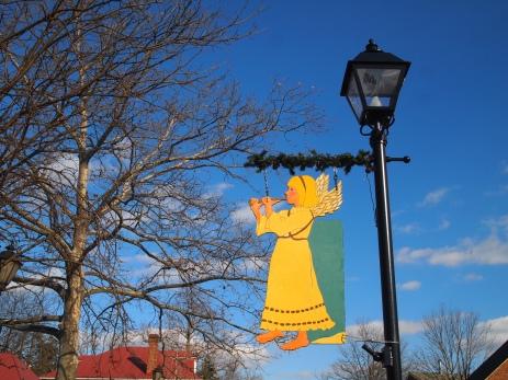 festive street lamps