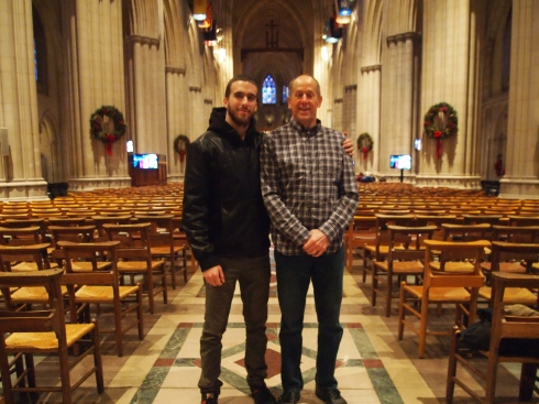 Mike and Alex in the Cathedral