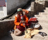 Snake charmer in Rishikesh, India