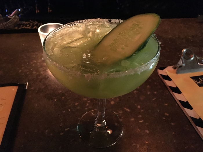 jalapeno and cucumber margarita at Lolita