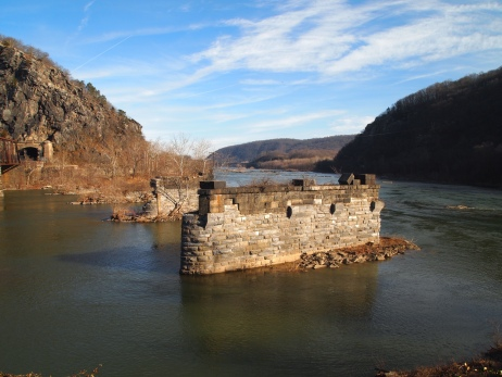 bridge remains at Harper's Ferry