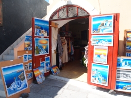 Commerce in Santorini