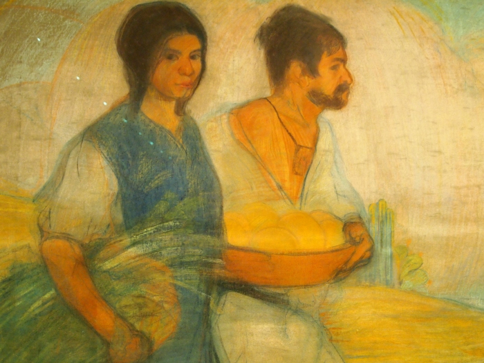 Peasants (c. 1913) by David Alfaro Siqueiros