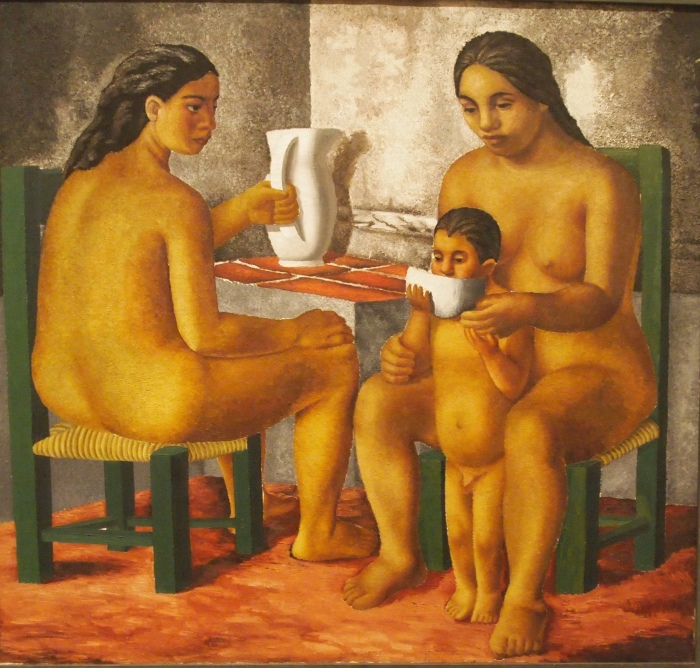 Three Nudes (Breakfast) 1930 - Julio Castellanos