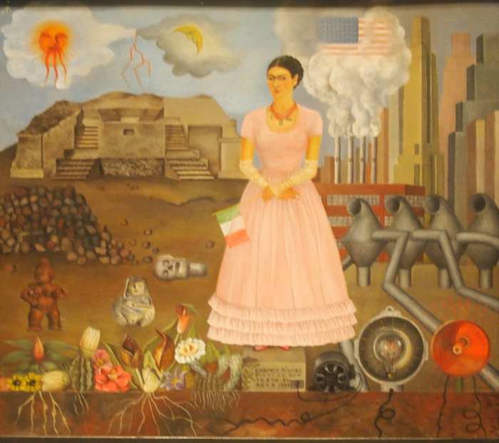 Self Portrait on the Border Line Between Mexico and the United States (1932) - Frida Kahlo