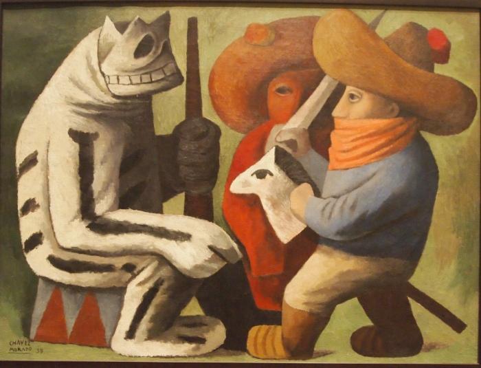 Carnival at Huejotzingo (1939) - Jose Chavez Morado
