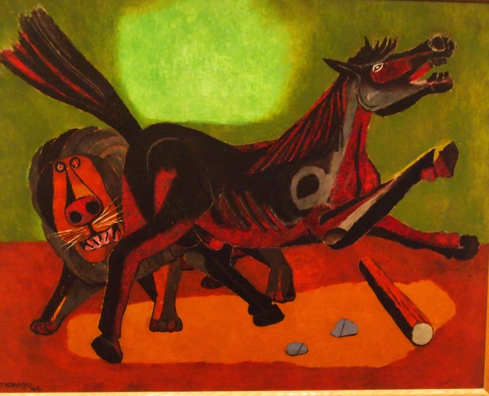 Lion and Horse (1942) - Rufino Tamayo