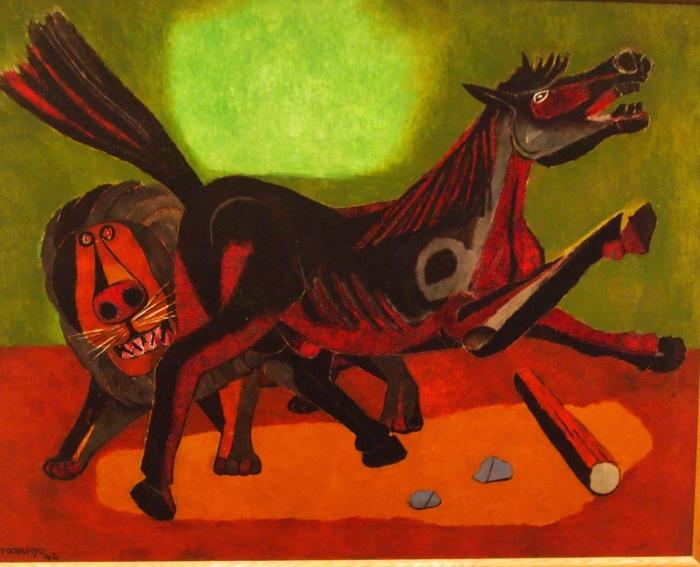 Lion and Horse (1942) - Rufino Tamayo