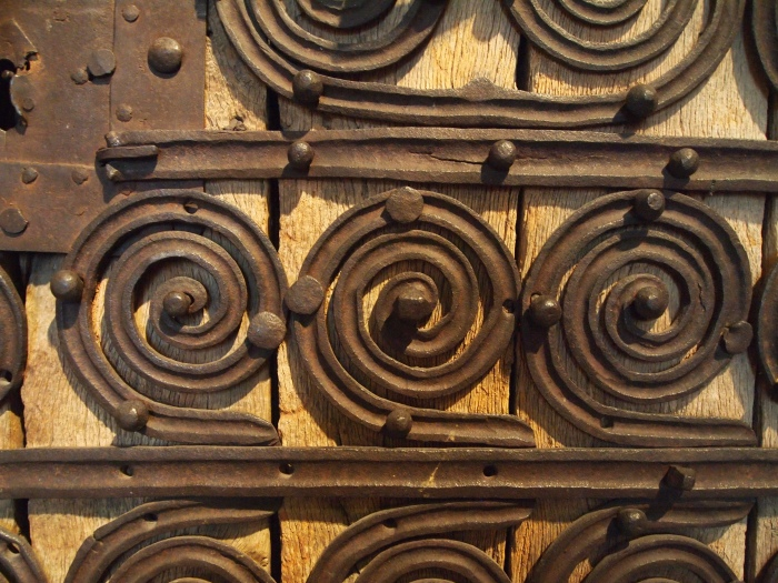 Detail - doors from French Gothic Chapel