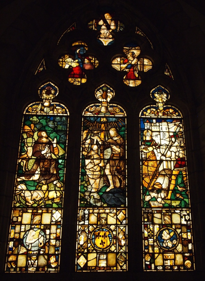 Stained glass window from French Gothic Chapel