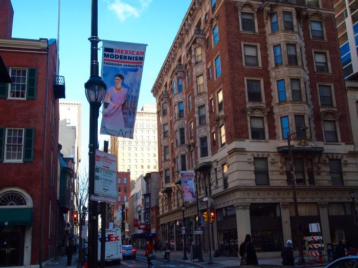 Philadelphia urban hike and Paint the Revolution banner