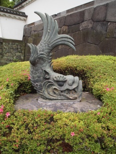 fish sculpture at Ote-mon gate