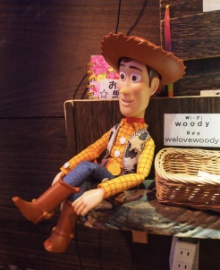 Sheriff Woody at the Woody Bar in Hakone