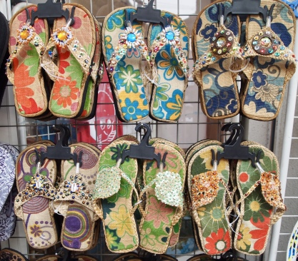 Japanese themed flip flops