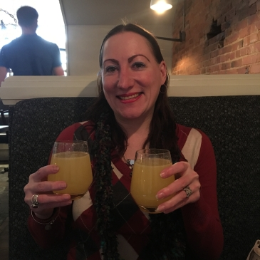 Leah with bottomless mimosas