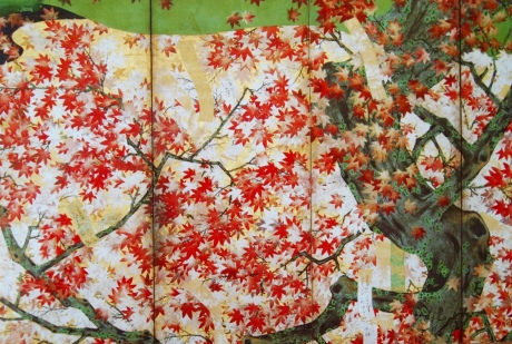 Cherry blossoms at Yoshino and Maple Leaves at Tatsuta (detail) at Nezu Museum