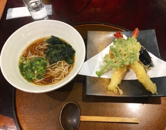tempura and udon in Hakone