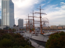 Nippon Maru training ship in Yokohama