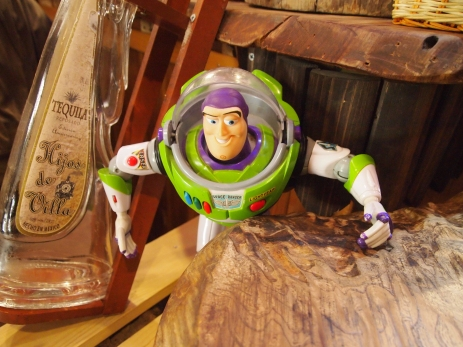 Buzz Lightyear at the Woody Bar in Hakone