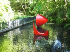floating sculptures at the Hakone Open Air Museum