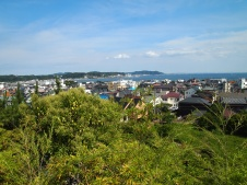 view of Sagami Bay from Hasedera