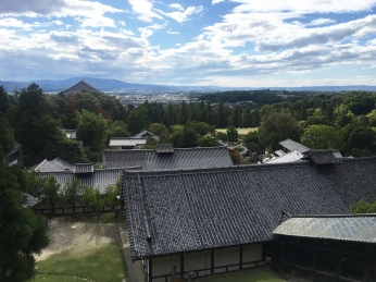 view of Nara from Nigatsu-do