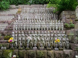 Jizo statues at Hasedera