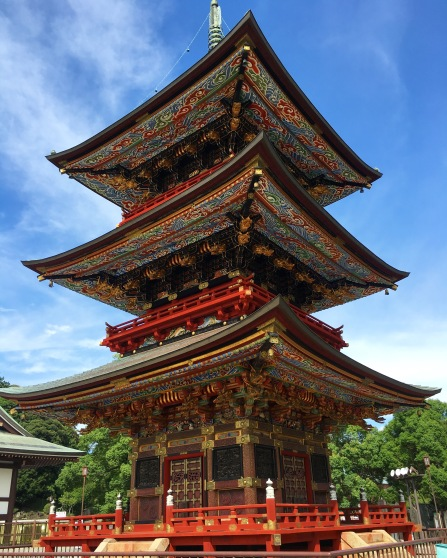 Three-storied pagoda at at Naritasan Shinshoji Temple