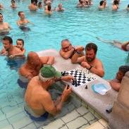 chess players at Szechenyi Medicinal Baths