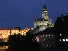 Český Krumlov at night